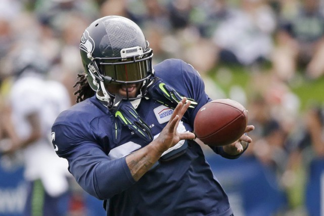 Marshawn Lynch... (PHOTO D'ARCHIVES, AP)