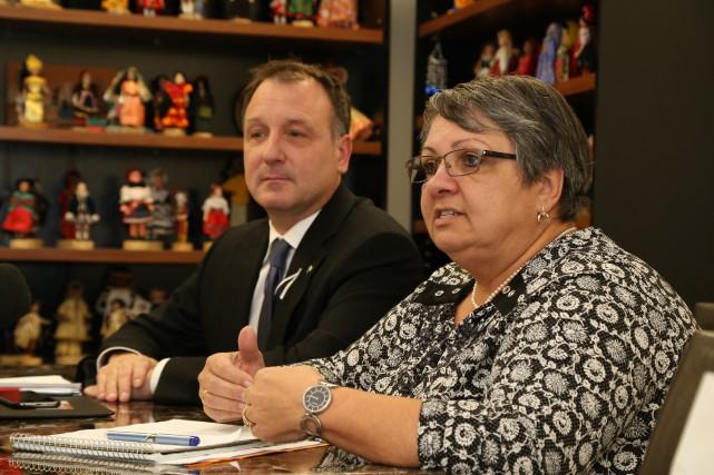 La directrice générale de SERY, Joanne Ouellette, et... (Janick Marois)