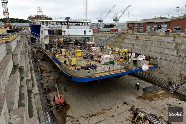 Le chantier maritime Davie à Lévis... (Photothèque Le Soleil, Patrice Laroche)