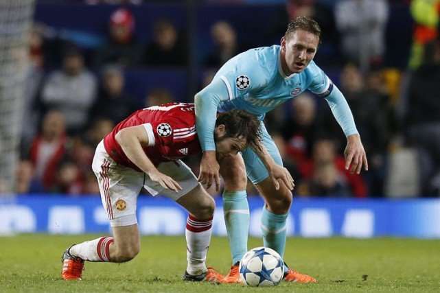 Manchester United a été incapable de percer la muraille du PSV Eindhoven et... (PHOTO AP)