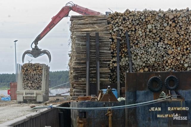 L'industrie forestière québécoise est à la croisée des... (Archives, La Presse)