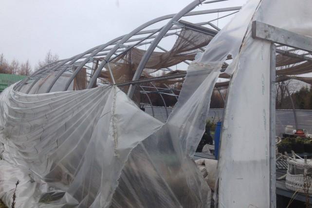 Le 6 novembre dernier, des vents violents ont... (Photo tirée de Facebook)