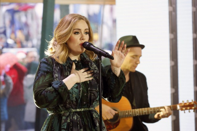 Adele a livré une performance mercredi matin à... (PHOTO AP)