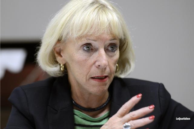 Françoise Bertrand, présidente de la Fédération des chambres... (Archives Le Quotidien, Jeannot Lévesque)