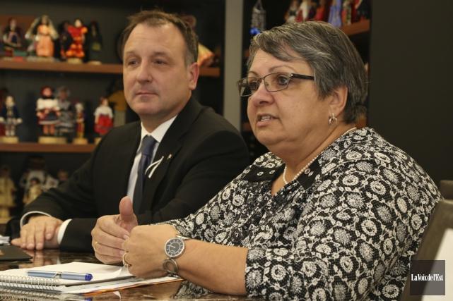 La directrice générale de SERY, Joanne Ouellette, et... (Janick Marois, La Voix de l'Est)