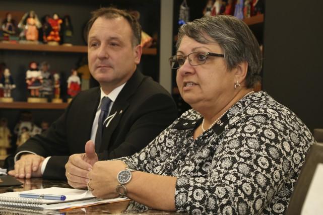 La directrice générale de SERY, Joanne Ouellette, et... (photo Janick Marois)