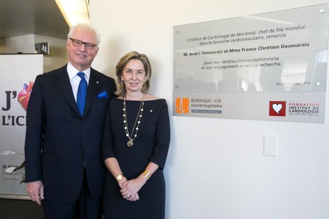 André Desmarais et sa femme France Chrétien Desmarais... (PHOTO FRANÇOIS ROY, LA PRESSE)