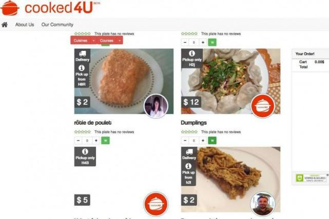 Les sites comme Cooked4U (photo) et Cuisine voisine... (IMAGE TIRÉE DU SITE WEB)