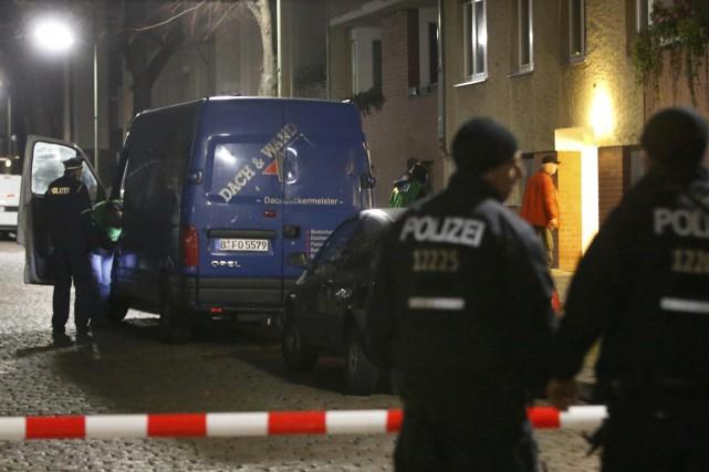Les deux hommes interpellés à Berlin jeudi à l'issue d'opérations policières... (Photo Reuters)