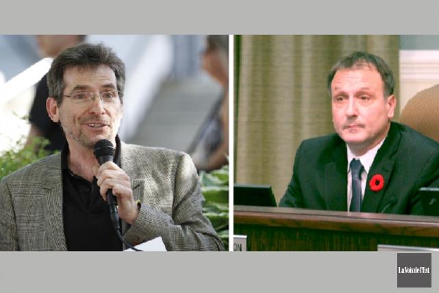 Les conseillers municipaux, Serges Ruel et Pierre Breton.... (Archives La Voix de l'Est)