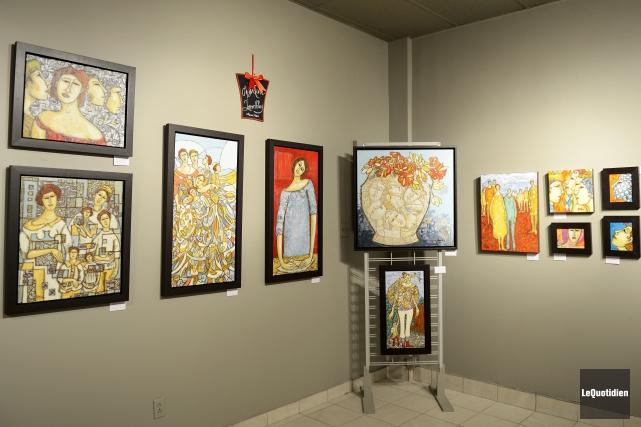 L'exposition Espace d'un hiver permet aux dix artistes... (Photo Le Quotidien, Jeannot Lévesque)