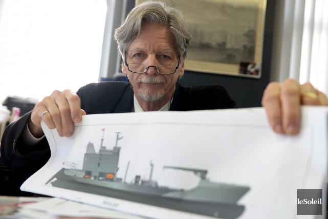 Paul E. Barbeau, architecte naval et président de... (Le Soleil, Erick Labbé)