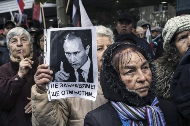 Des partisans du parti ultranationaliste bulgare Ataka qui... (AFP, Dimitar Dilkoff)