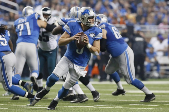 Le quart-arrière des Lions de Detroit, Matthew Stafford,... (Photo Associated Press)