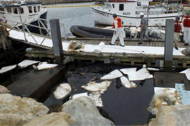 La fuite d'hydrocarbures provenait de l'oléoduc de la... (Collaboration spéciale Diane Hébert)