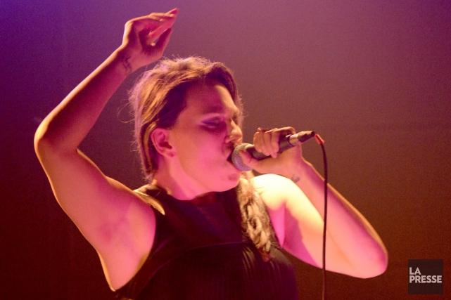 La chanteuse inuite Tanya Tagaq n'en revenait pas... (PHOTO CHARLES LABERGE, COLLABORATION SPÉCIALE LA PRESSE)