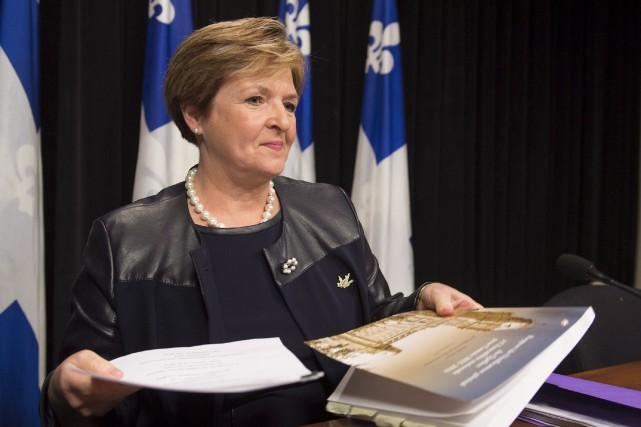 La vérificatrice générale, Guylaine Leclerc... (La Presse Canadienne, Jacques Boissinot)