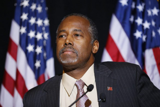 Le candidat à l'investiture républicaine Ben Carson... (Photo John Locher, AP)