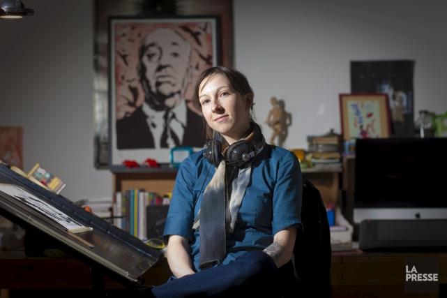 AvecLa Petite Patrie,la bédéiste montréalaise Julie Rocheleau est... (André Pichette, Archives La Presse)