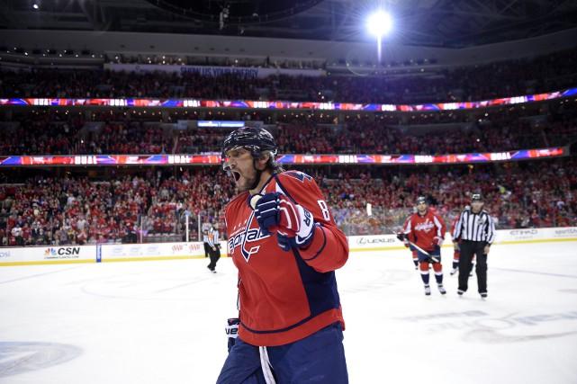 Alex Ovechkin a contribué à la victoire de... (Photo Nick Wass, AP)
