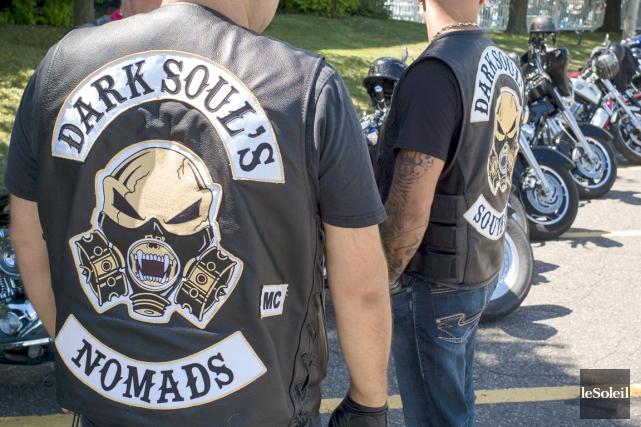 Club de motards associé aux Hells Angels, les... (PHOTOTHÈQUE LE SOLEIL)