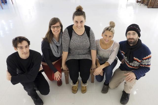 Quelques-uns des artistes qui exposent à Boréart jusqu'au... (photo Alain Dion)