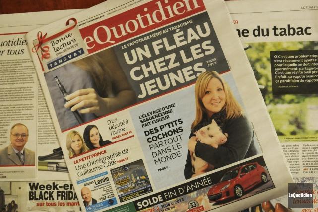 Notre édition d'aujourd'hui est la plus importante jamais... (Photo Le Quotidien, Mariane L. St-Gelais)