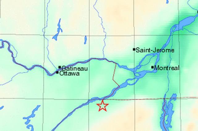 L'épicentre se trouvait à une dizaine de kilomètres... (Photo : Séisme Canada)