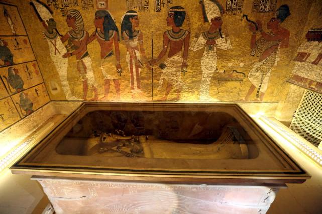 La chambre funéraire de Toutankhamon... (PHOTO ARCHIVES REUTERS)
