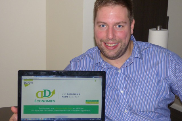 Le Jonquiérois David Duguay a fondé DD Économies.... (Photo courtoisie)