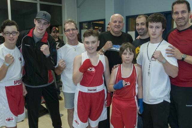 Le Club de boxe de Chicoutimi a organisé... (Photo Le Progrès-Dimanche, Michel Tremblay)