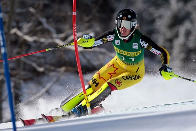 Marie-Michèle Gagnon a terminé 8e au slalom d'Aspen... (AP, Nathan Bilow)