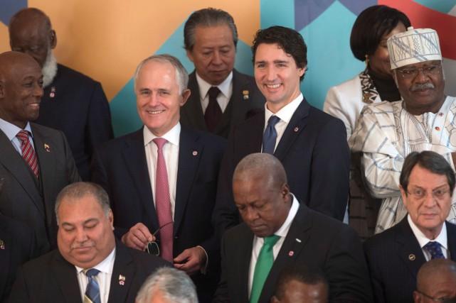 Justin Trudeau était présent au sommet du Commonwealth,... (La Presse Canadienne, Adrian Wyld)