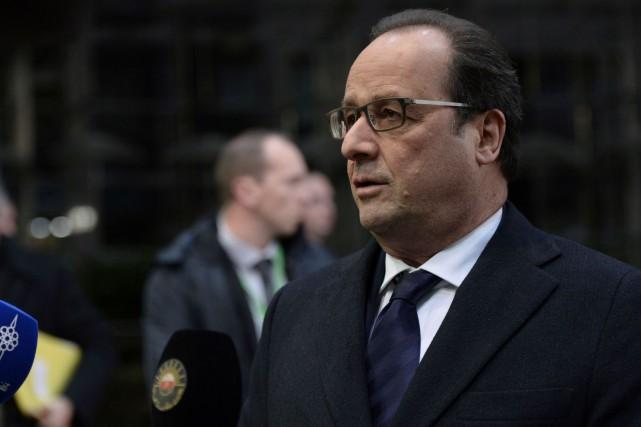 Le président français, François Hollande, a rappelé qu'«un... (AFP, Thierry Charlier)
