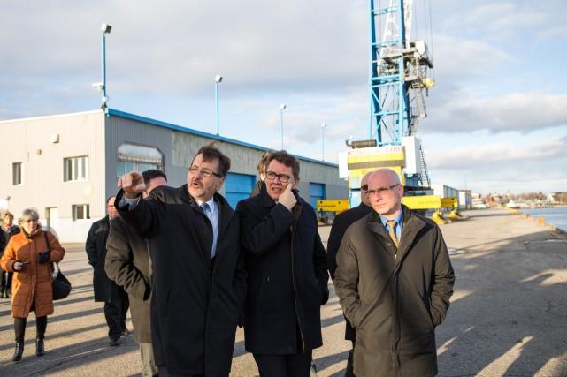 Le président-directeur général du port de Trois-Rivières, Gaétan... (Photo: Olivier Croteau)