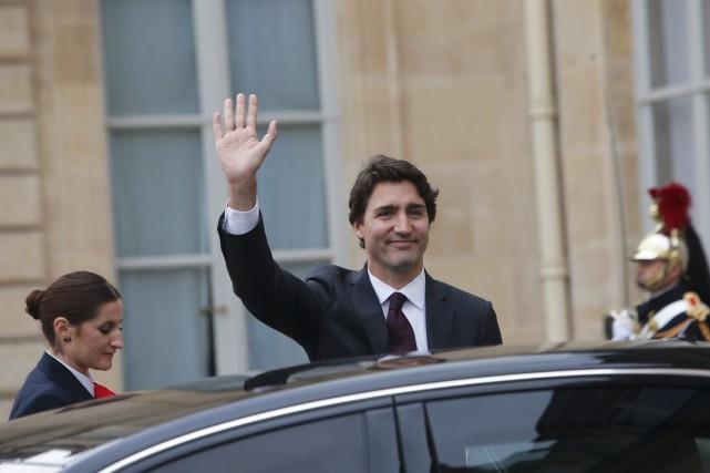 Le premier ministre Justin Trudeau, de passage à... (Associated Press)