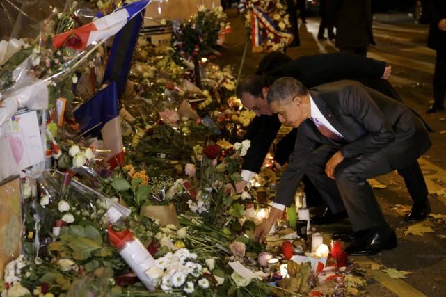 Barack Obama a retrouvé le président français devant... (PHOTO REUTERS)