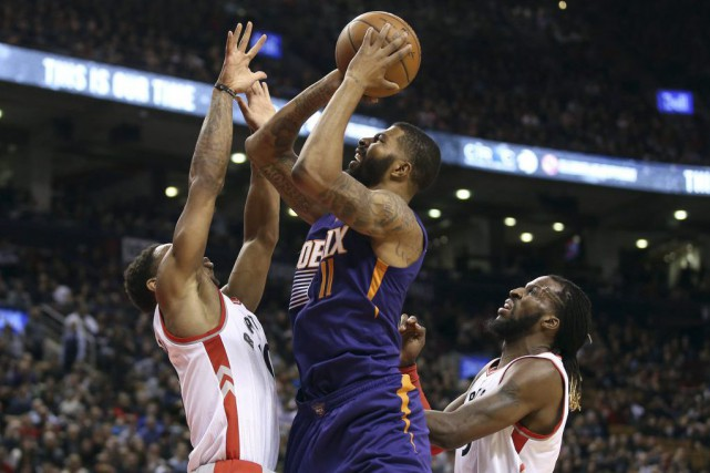 DeMar DeRozan a inscrit 29 points, DeMarre Carroll en a ajouté 20, mais les... (Photo USA Today Sports)