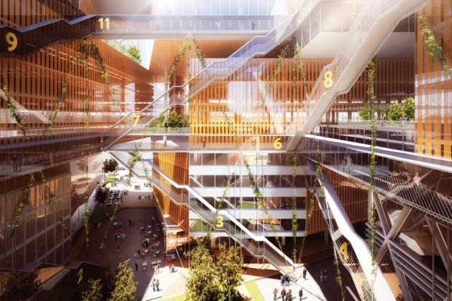 Le projet Espace Montmorency prévoit un complexe d'une... (PHOTO FOURNIE PAR SID LEE)