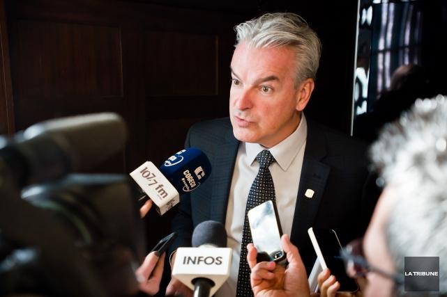 Le maire de Sherbrooke Bernard Sévigny.... (Archives, La Tribune)