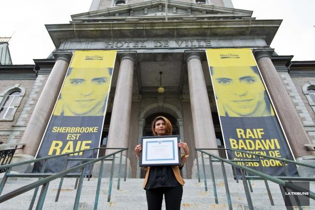 Ensaf Haidar, la conjointe de Raif Badawi... (Archives, La Tribune)