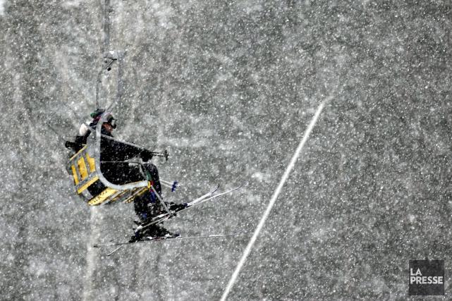 Les abonnés de Ski Bromont pourront skier dans... (Photo Bernard Brault, archives La Presse)