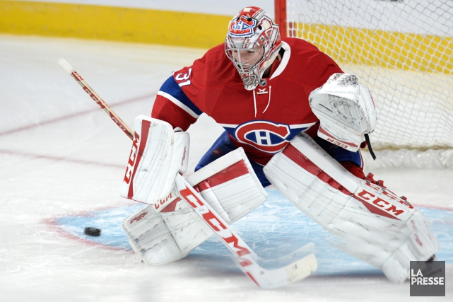 Carey Price souffre d'une blessure au genou droit.... (Photo Bernard Brault, archives La Presse)