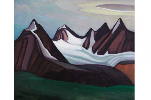 Mountain and Glacier, 1930, Lawren Harris, huile sur... (PHOTO FOURNIE PAR LA MAISON HEFFEL)