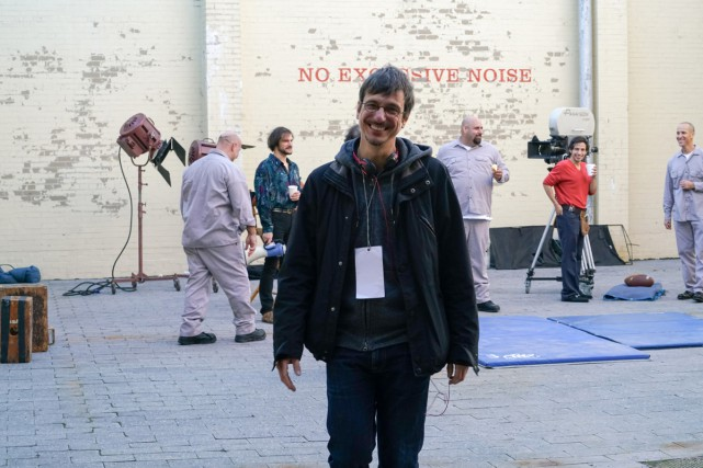 Philippe Falardeau sur le plateau de tournage du... (PHOTO SARAH SHATZ, FOURNIE PAR LA PRODUCTION)
