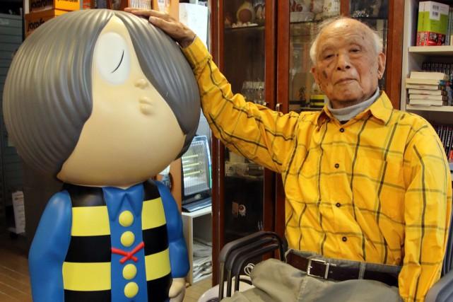 Shigeru Mizuki en mai dernier.... (PHOTO ARCHIVES AFP)