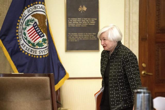 La présidente de la Banque centrale américaine Janet... (PHOTO ANDREW HARNIK, AP)