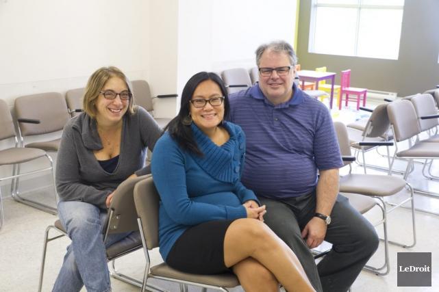 Les docteurs Gaétan Babineau, Anh-Thu Vu-Khanh et Sophie... (Martin Roy, LeDroit)