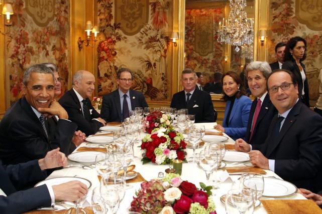 Les dirigeants français et américains se rencontrent en... (Photo AFP)