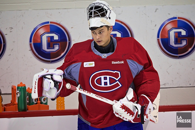 Zachary Fucale lors du camp des recrues du... (PHOTO ANDRÉ PICHETTE, LA PRESSE)